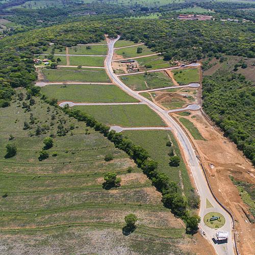 Vista aérea do Condomínio Estancia da Mata - Matozinhos MG